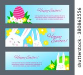 happy easter banners with... | Shutterstock .eps vector #380862556