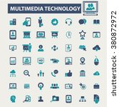multimedia technology icons | Shutterstock .eps vector #380872972