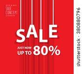 sale heading design for banner... | Shutterstock .eps vector #380880796