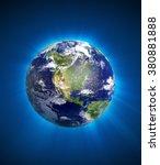 high resolution 3d render of... | Shutterstock . vector #380881888