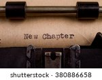 New Chapter   Typed Words On A...