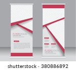 roll up banner stand template.... | Shutterstock .eps vector #380886892