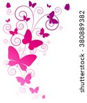 butterflies design | Shutterstock .eps vector #380889382