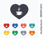 love coffee icon. hot coffee... | Shutterstock .eps vector #380891692