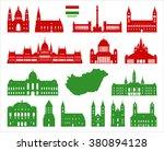 hungary landmarks. vector on...   Shutterstock .eps vector #380894128