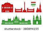 budapest landmarks. vector on... | Shutterstock .eps vector #380894155