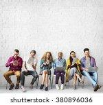 diversity friends connection...   Shutterstock . vector #380896036