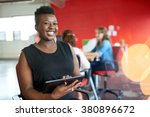 confident female designer... | Shutterstock . vector #380896672