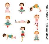 set of cartoon pregnant women... | Shutterstock .eps vector #380897482