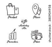 Marketing Mix Elegant Icon Kit. ...