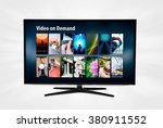 video on demand vod application ... | Shutterstock . vector #380911552