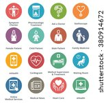 medical   health care icons set ... | Shutterstock .eps vector #380914672