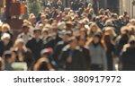 crowd walking street anonymous... | Shutterstock . vector #380917972