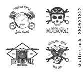 set of vintage motorcycle badges | Shutterstock .eps vector #380931352
