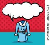 clothes doodle  speech bubble | Shutterstock .eps vector #380937115