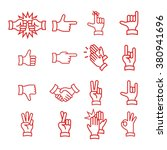 hand gestures from clapping... | Shutterstock .eps vector #380941696