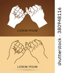 promise hand graphic vector. | Shutterstock .eps vector #380948116