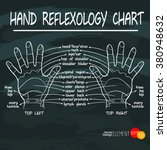 hand drawn hand reflexology... | Shutterstock .eps vector #380948632