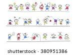 group of sketch kids   Shutterstock .eps vector #380951386