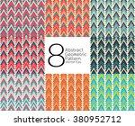 modern geometric pattern.... | Shutterstock .eps vector #380952712