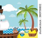ahoy  set of sailor  captain... | Shutterstock .eps vector #380958802