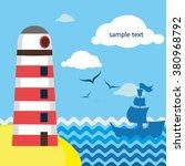 sea card | Shutterstock .eps vector #380968792