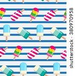 summer seamless pattern ... | Shutterstock .eps vector #380970958