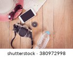 preparation for travel trip... | Shutterstock . vector #380972998