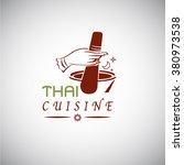 thai food concept. thai cuisine ...   Shutterstock .eps vector #380973538