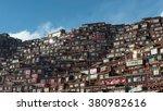 larung gar buddhist academy  in ... | Shutterstock . vector #380982616
