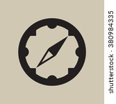 . compass  icon   isolated....