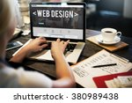 web design website homepage... | Shutterstock . vector #380989438