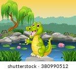 Cute Crocodile Presenting