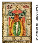 justice.  full colorful deck ... | Shutterstock . vector #380995966