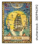 the moon.  full colorful deck ... | Shutterstock . vector #380996392