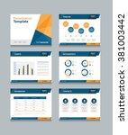 abstract  business presentation ... | Shutterstock .eps vector #381003442