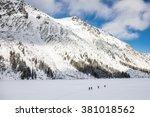 Winter High Mountains In Europ...