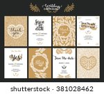 save the date cards  wedding... | Shutterstock .eps vector #381028462