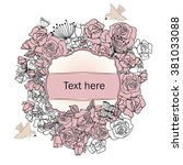 banner with floral elements | Shutterstock .eps vector #381033088