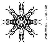 tattoo tribal vector design... | Shutterstock .eps vector #381034135