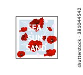 sea sun  sand background 2 | Shutterstock .eps vector #381044542