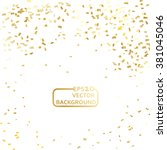 gold confetti celebration... | Shutterstock .eps vector #381045046