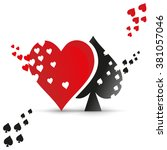 playing card suit logo. vector... | Shutterstock .eps vector #381057046