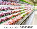 Blur Of Fresh Fruits On Shelf...