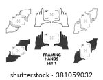 framing hands as a template for ... | Shutterstock .eps vector #381059032