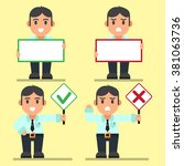 office workers right and wrong...   Shutterstock .eps vector #381063736