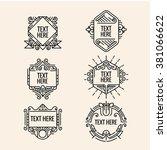 classic art deco luxury minimal ... | Shutterstock .eps vector #381066622