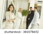 modern multiratial... | Shutterstock . vector #381078652