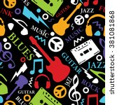 music seamless pattern | Shutterstock .eps vector #381081868