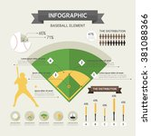 baseball info graphics | Shutterstock .eps vector #381088366